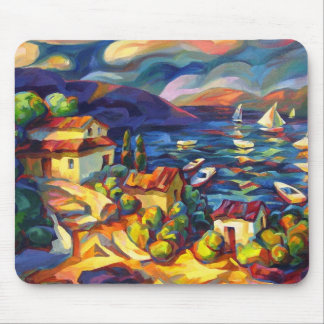 Village by the Sea Mousepad