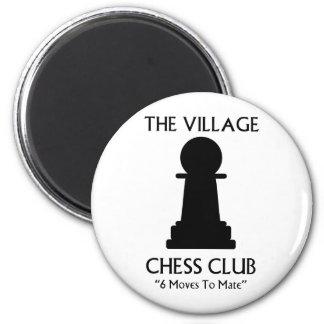 Village Chess Club 2 Inch Round Magnet