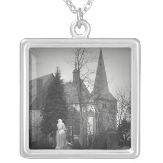 Village Church and Cemetery Personalized Necklace