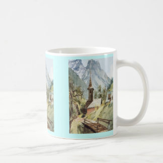 VIllage church in the mountains Classic White Coffee Mug