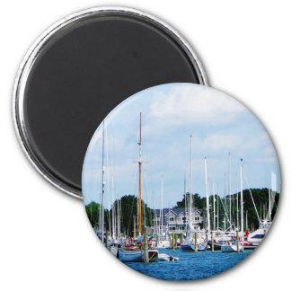 Village Dock at Wickford, RI Fridge Magnets