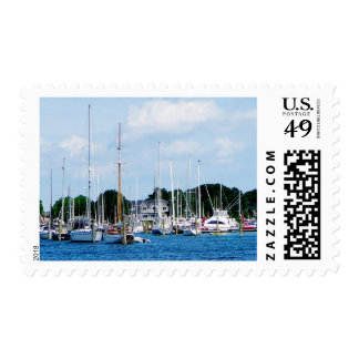Village Dock at Wickford, RI Postage