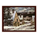 Village Exit In Winter By Courbet Gustave Postcard