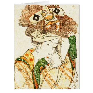 Village Girl from Ohara 1799 Large Greeting Card