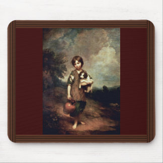 Village Girl With Dog And Jug By Gainsborough Thom Mouse Pad