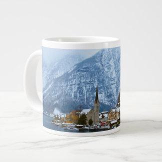 Village Hallstatt On The Lake - Salzburg Austria 20 Oz Large Ceramic Coffee Mug
