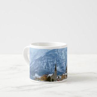 Village Hallstatt On The Lake - Salzburg Austria 6 Oz Ceramic Espresso Cup