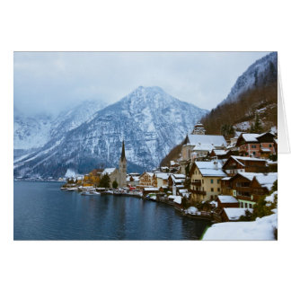 Village Hallstatt On The Lake - Salzburg Austria Card