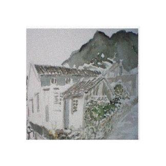 Village houdong Liao Zhéjiang China Canvas Print
