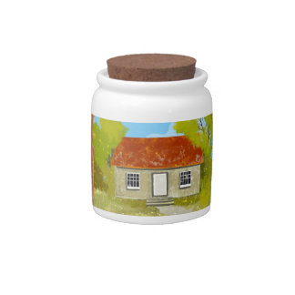 village house Candy Jar