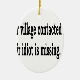 Village Idiot Ceramic Ornament