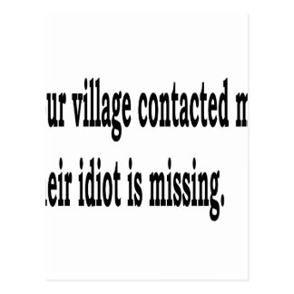 Village Idiot Postcard