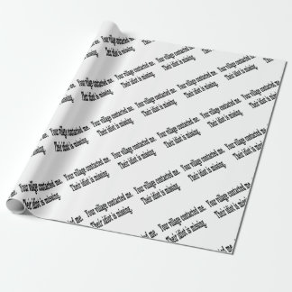 Village Idiot Wrapping Paper