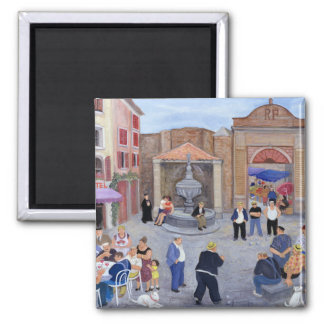 Village in Provence 2 Inch Square Magnet