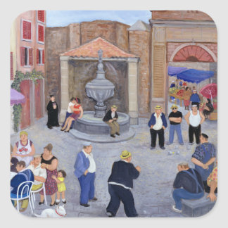 Village in Provence Square Sticker