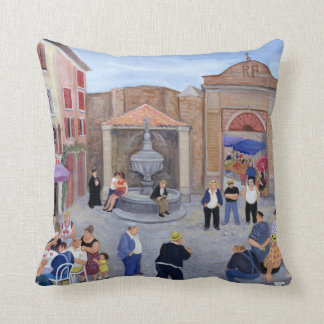 Village in Provence Throw Pillow