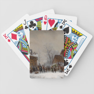Village in Winter Bicycle Playing Cards