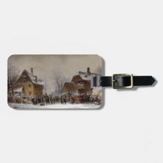 Village in Winter Bag Tag