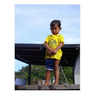 Village Kid Postcard