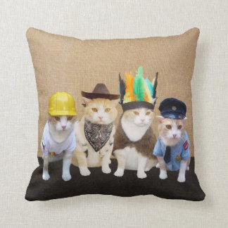 Village Kitties American MoJo Pillow