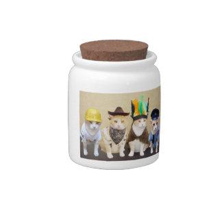 Village Kitties Candy Jars