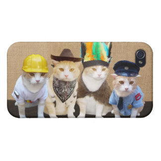 Village Kitties Cases For iPhone 4