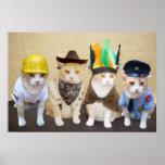 Village Kitties Poster