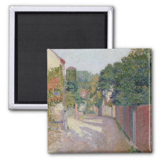 Village Lane (oil on canvas) 2 Inch Square Magnet
