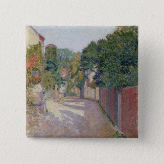 Village Lane (oil on canvas) Button