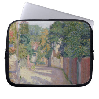 Village Lane (oil on canvas) Laptop Computer Sleeves