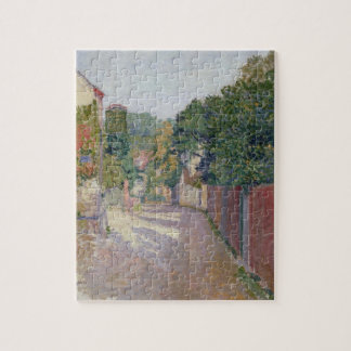 Village Lane (oil on canvas) Jigsaw Puzzle