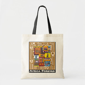 Village life - Aftrican Art Budget Tote Bag