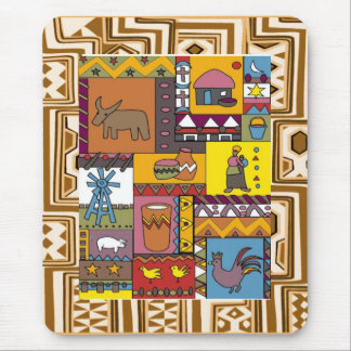 Village life - Aftrican Art Mouse Pad