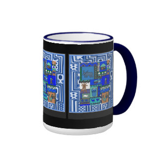 Village life - Aftrican Art Ringer Coffee Mug