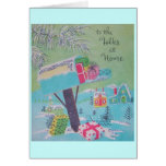Village Mailbox Happy Holidays Vintage Greeting Cards
