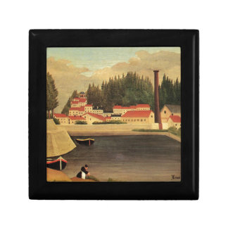 Village near a Factory by Henri Rousseau Gift Box