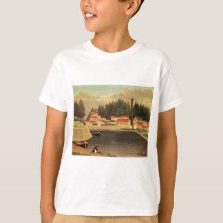 Village near a Factory by Henri Rousseau T-Shirt