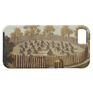 Village of an Indigenous Tribe in Florida, engrave iPhone SE/5/5s Case