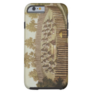 Village of an Indigenous Tribe in Florida, engrave Tough iPhone 6 Case