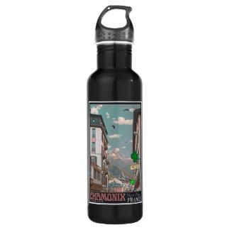 Village of Chamonix (black) Water Bottle