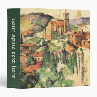 Village of Gardanne by Paul Cezanne, Vintage Art 3 Ring Binder