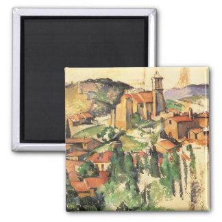 Village of Gardanne by Paul Cezanne, Vintage Art Magnet