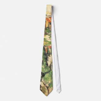Village of Gardanne by Paul Cezanne, Vintage Art Tie