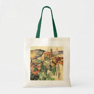 Village of Gardanne by Paul Cezanne, Vintage Art Tote Bag