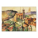 Village of Gardanne Cezanne, Vintage Impressionism Card