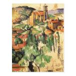 Village of Gardanne Cezanne, Vintage Impressionism Postcard