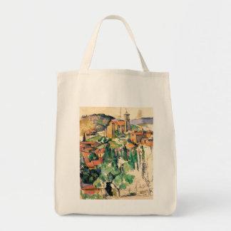 Village of Gardanne, Paul Cézanne Tote Bags