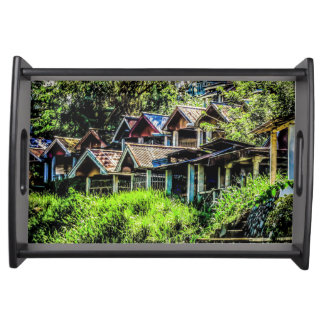 Village of Silence Serving Tray