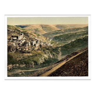 Village of Siloam, Jerusalem, Holy Land rare Photo Postcard