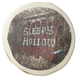 Village of Sleepy Hollow Sign Sugar Cookie